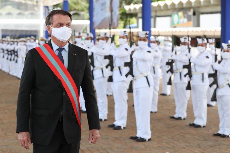 Bolsonaro participou de cerimônia de transmissão do Comando da Marinha ao almirante Almir Garnier Santos - (Foto: Marcos Corrêa/PR - 09.04.2021)