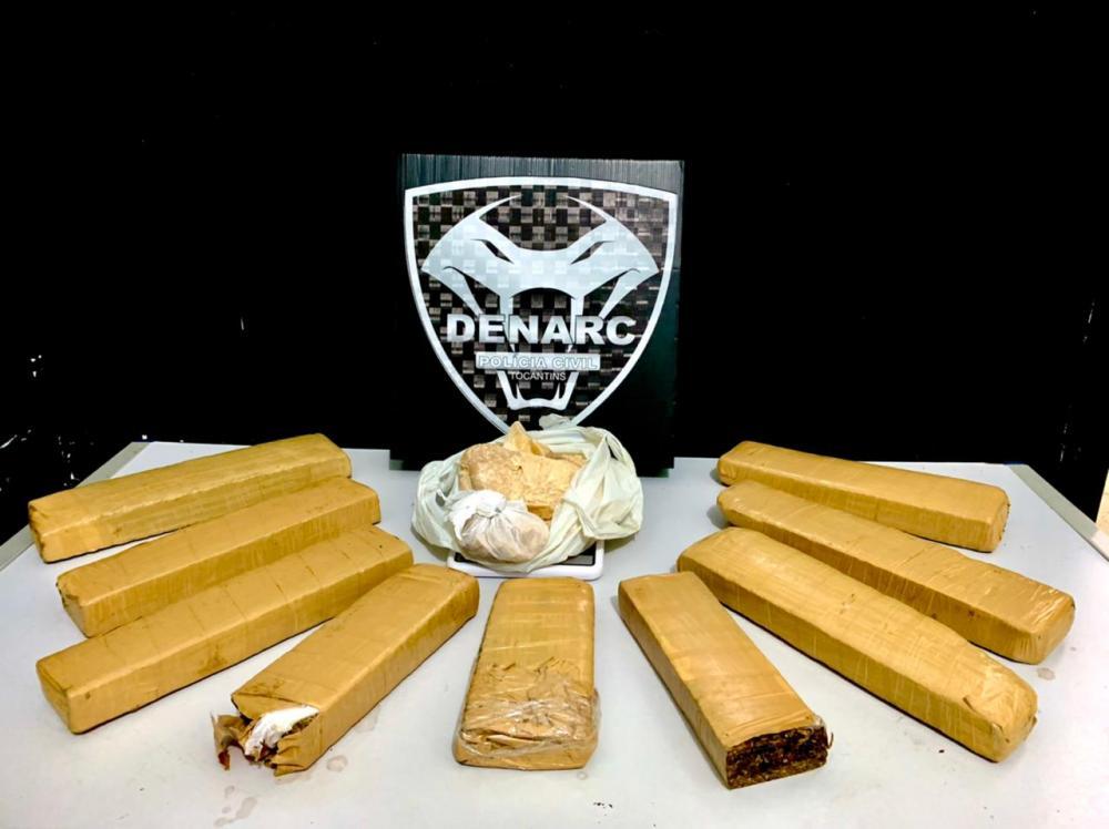 Polícia Civil desmonta ponto de armazenagem e distribuição de drogas e prende suspeitos pelo crime de tráfico na região sul de Palmas (Foto: SSP/TO)