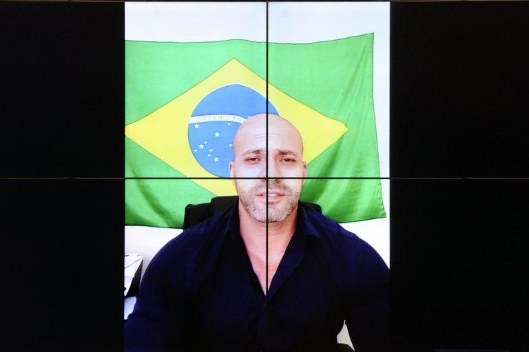 Daniel Silveira está em prisão domiciliar e falou ao Conselho de Ética por videoconferência - (Foto: Gustavo Sales/Câmara dos Deputados)