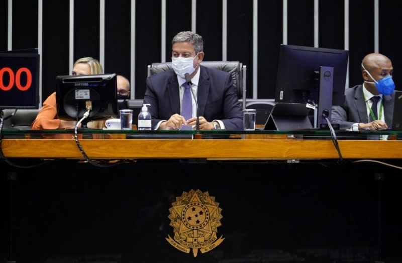 Discussão e votação de propostas. Presidente da Câmara, Arthur Lira (PP - AL) - (Foto: Pablo Valadares/Câmara dos Deputados-06/04/2021)