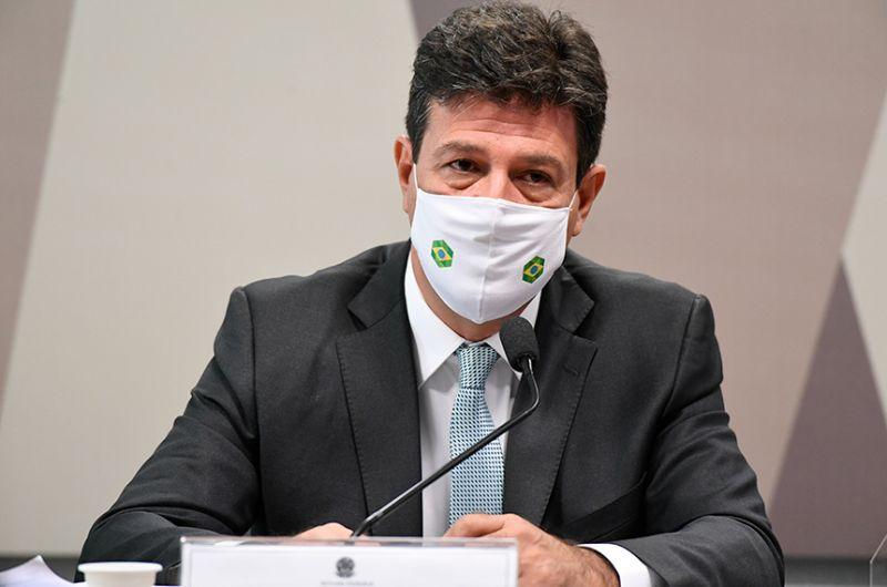 Depoimento do ex-ministro da Saúde, Luiz Henrique Mandetta, durou 8 horas - Jefferson Rudy/Agência Senado