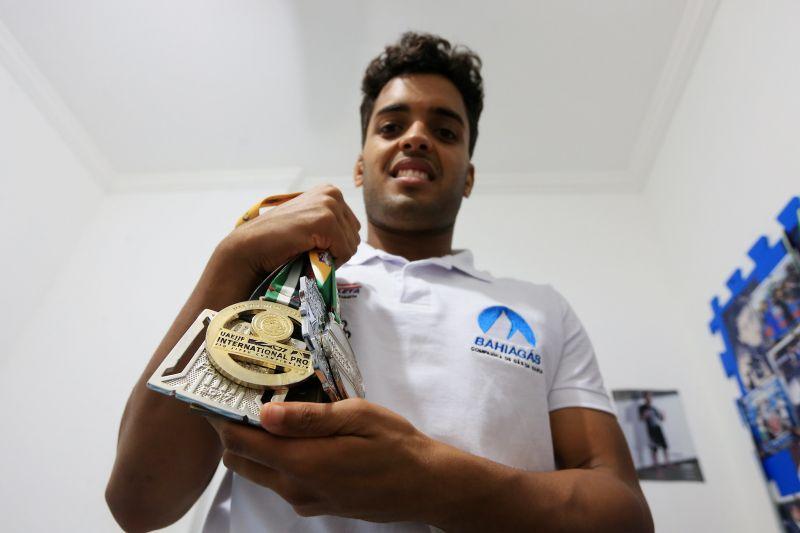 Igor Nogueira, campeão mundial de parajiu-jitsu - Foto: Paula Fróes/GOVBA