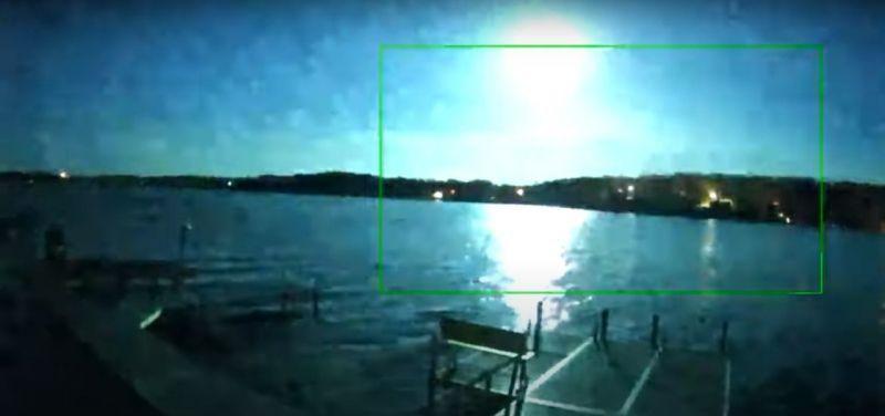 American Meteor Society recebeu 39 relatórios sobre a bola de fogo - (Foto: Reprodução: YouTube)