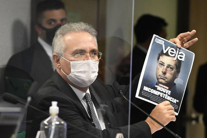 Renan Calheiros viu mentiras no depoimento de Wanjgarten e pediu pela prisão do ex-secretário - (Foto: Jefferson Rudy/Agência Senado - 12.05.2021)
