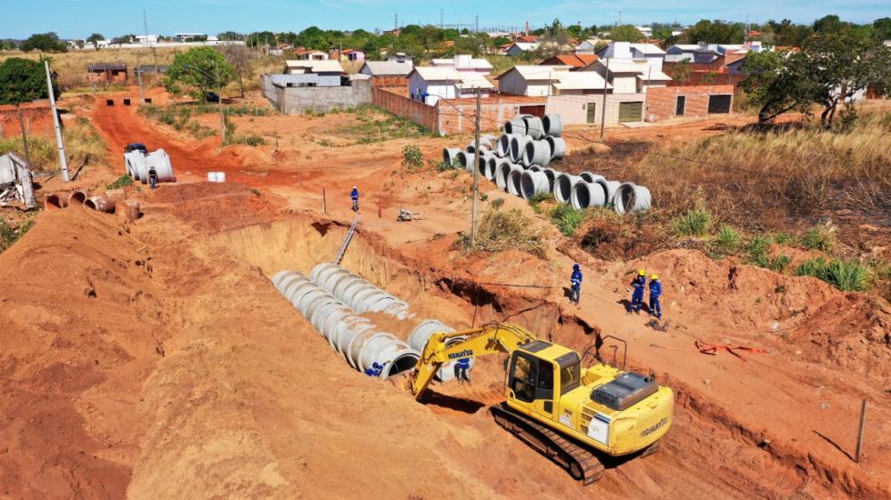 O Projeto de Saneamento Integrado Águas de Araguaína já foi iniciado e vai beneficiar mais de 12 bairros da cidade (Foto: Marcos Filho)