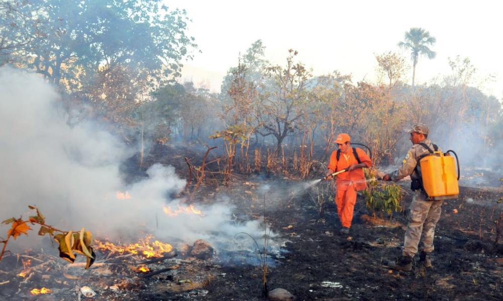Governador Carlesse solicita ao presidente Bolsonaro auxílio das Forças Armadas para o combate de incêndios florestais no TO