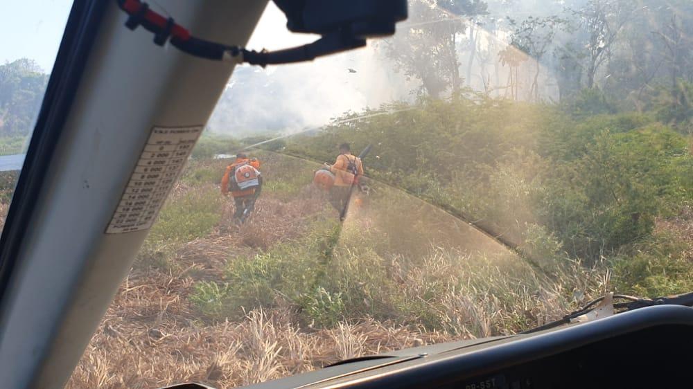 Focos de incêndio atingem o Parque Estadual do Cantão (Foto: Ciopaer)