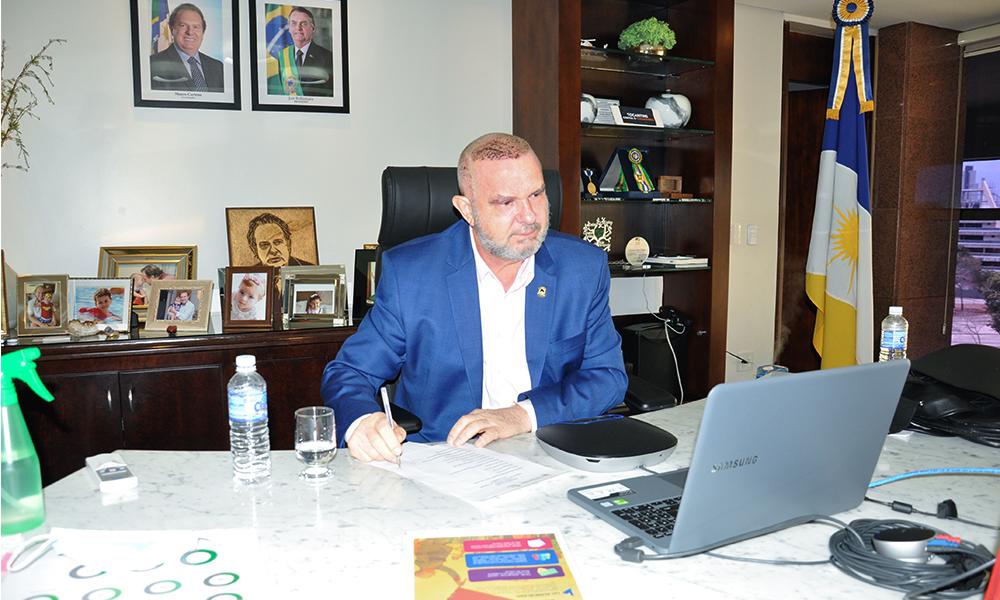 Governador Mauro Carlesse participou da primeira reunião do Conselho de Política Cultural deste ano (Foto: Aldemar Ribeiro)