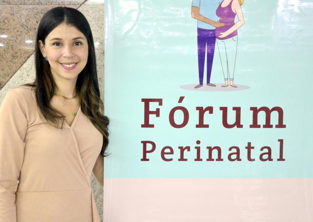Para Raquel Marques o Fórum Perinatal é um espaço coletivo de promoção da saúde e qualidade de vida da mulher e da criança (Foto: Nielcem Fernandes)