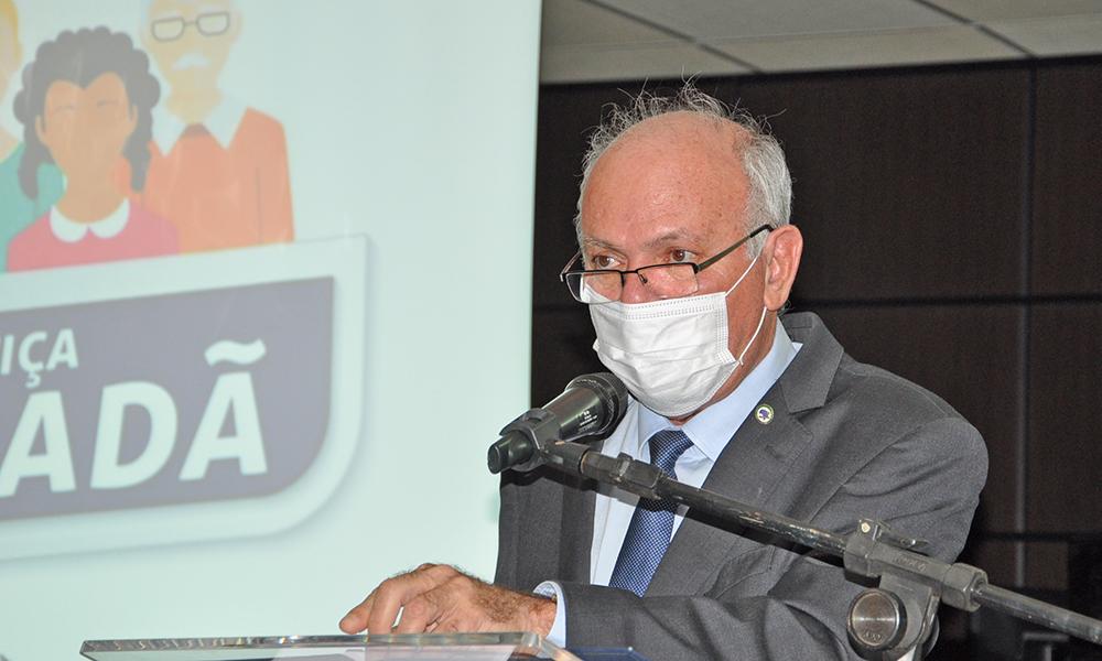 Governador em exercício, desembargador Helvécio Maia, conduziu a última audiência do projeto Justiça Cidadã e falou dos desafios causados pela pandemia do novo Coronavírus (Foto: Aldemar Ribeiro)