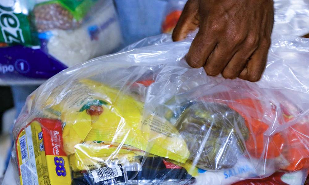 Ação tem como objetivo garantir a segurança alimentar e nutricional das famílias impactadas pela pandemia (Foto: Alexandre Alves)