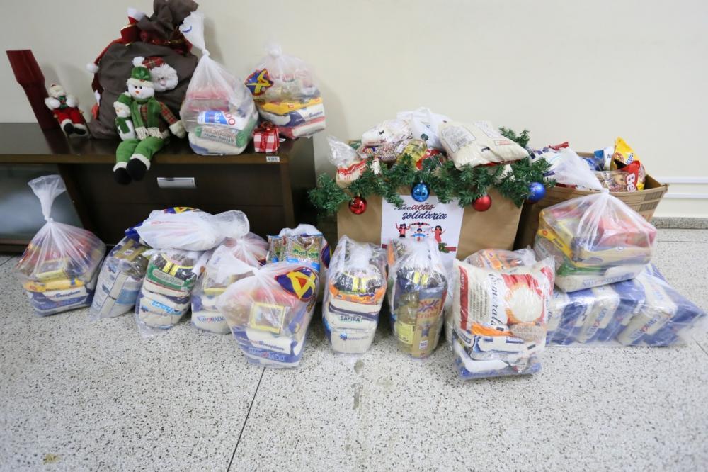 Ao todo, foram arrecadados 2.307,220 kg de alimentos (Foto: Katriel Bernardes)