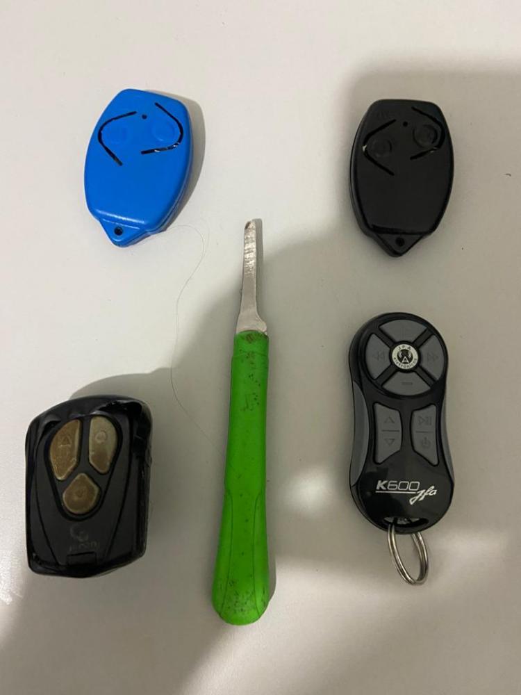 Dispositivo eletrônico conhecido como Chapolim utilizado para a prática dos crimes (Foto: SSP/TO)