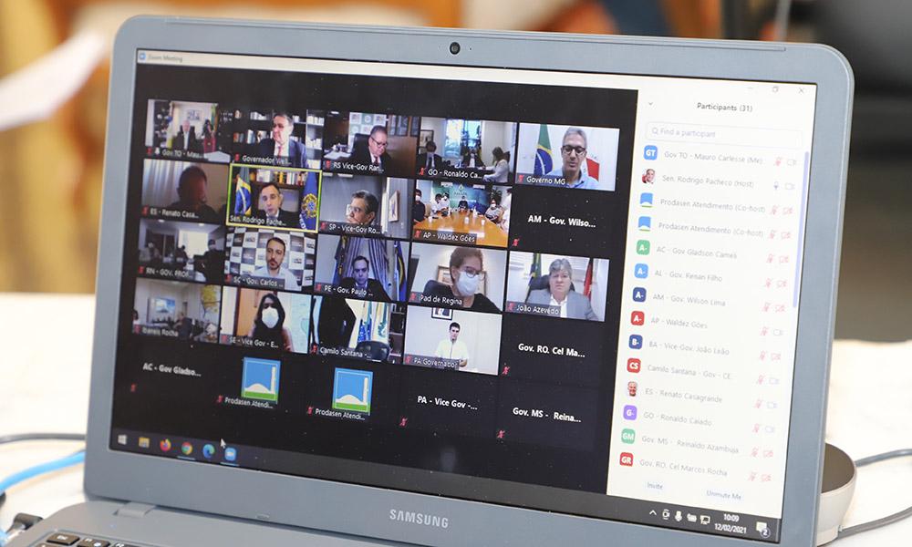 A reunião ocorreu em formato on-line, nesta sexta-feira, 12. (Foto: Josy Karla)