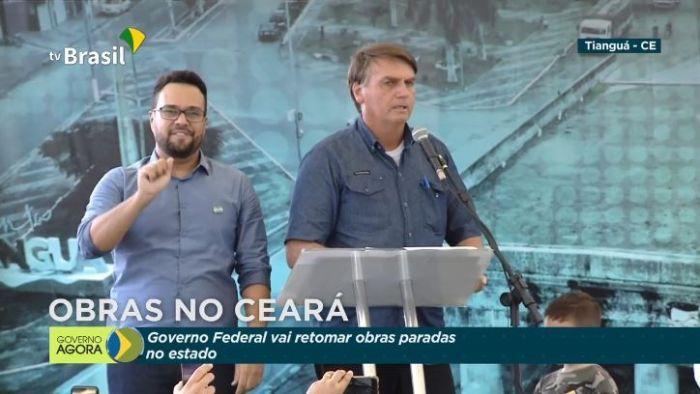 Bolsonaro autorizou retomada de obras paradas na região metropolitana de Fortaleza (CE) - (Foto: Reprodução/YouTube/TV Brasil)