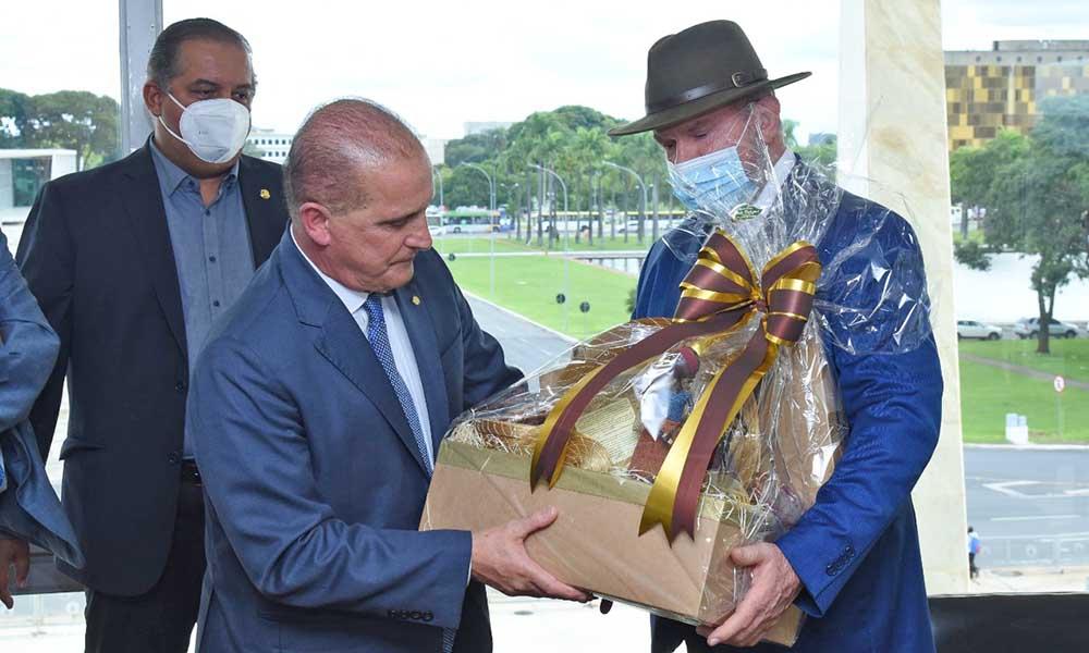 Governador Carlesse solicitou apoio do ministro Lorenzoni para dar celeridade à liberação do empréstimo da Caixa Econômica Federal, no valor de R$ 453 milhões (Foto: Secom/TO)